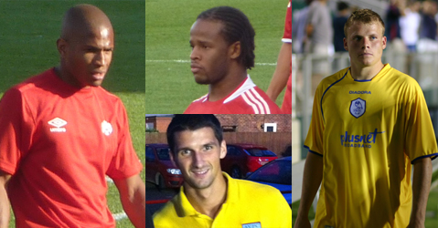 clockwise from (L): Jackson, Peters, Simek, Lichaj